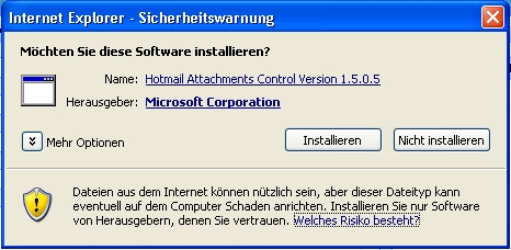 Warnhinweis von Windows